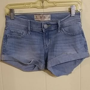 Hollister Low Rise Denim Short Shorts Sz 0